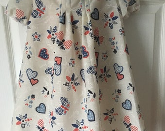 Hearts and flowers girls dress