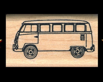 93a52288b5 VW VOLKSWAGEN BUS Rubber Stamp – Wooden Mounted