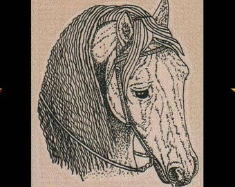 HORSE Rubber Stamp, Equine Gifts, Horse Gifts, Wood Mounted Horse Rubber Stamp, Horse Head, Animal Rubber Stamp, Horse Stamp, Horse Stuff