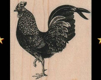 CHICKEN Rubber Stamp Rooster Farm Animal Chicken Gifts Party Favors Cute Cock