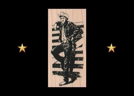COWBOYS Rubber Stamp COWBOYS ON HORSEBACK Cow Ropers Rodeo Rubber Stamp