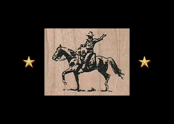 Rodeo Cowboy Stamps Horses Cowboys Mounted Rubber Stamp Western Stamps