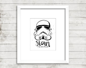Storm Trooper digital print, star wars, printable art, star wars art