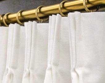 French pleat drapes | Etsy