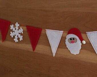 Felt SANTA Snowflake Pennant Banners Christmas Sewing Pattern PDF ePattern Marry CHRISTMAS bunting, Christmas decoration Christmas Appliques