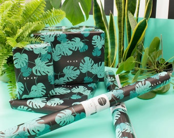 Wrapping paper MONSTERA - 3 arc - rolled