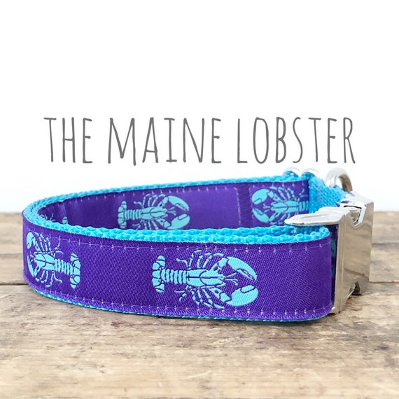 Lobster Dog Collar Personalized Dog Collar Preppy Collar Custom Dog Collar Nautical Collar