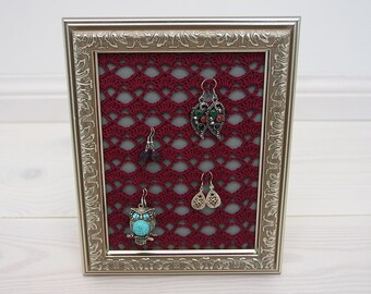 Lace earring holder Etsy