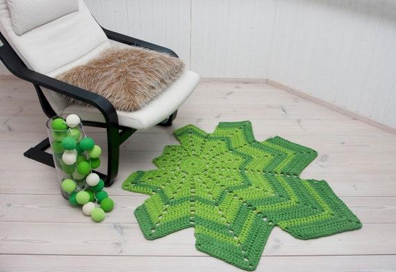 Grüne Blatt geformt häkeldeckchen Teppich 45 häkeln | Etsy