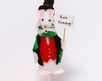ec26df87813fa Bah Humbug! Scrooge Mouse Christmas Tree Ornament