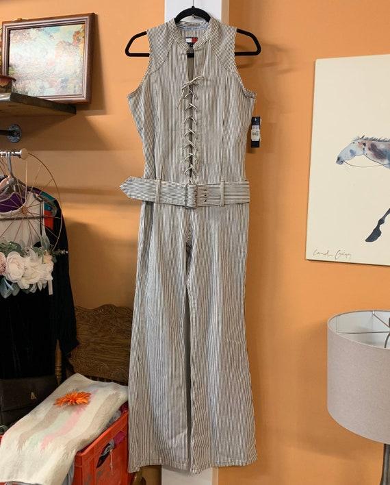 Vintage Tommy Jeans Denim Pinstripe Catsuit Deadst