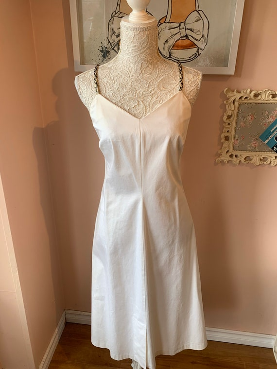 Vintage White A-Line Cotton Summer Dress