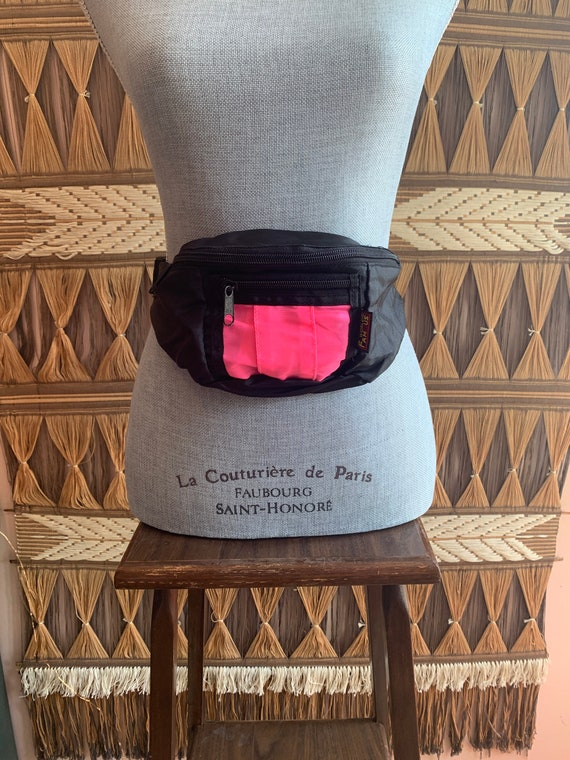 Vintage 90s World Famous Neon Pink and Black Fanny
