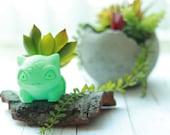 Bulbasaur Planter (Realistic), Pokemon Planter, Succulent Planter, Air Planter Many Colors
