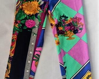 13aa1242a563 Gianni VERSACE Jeans Couture Versace Pants floral prints baroque design  Very RARE versace 1990