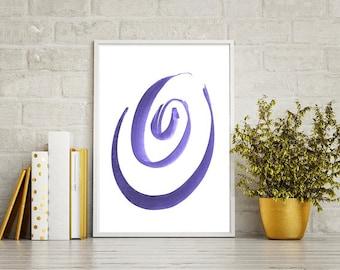 Violet Circles, Wall Art, Printable Wall Art, Home Decor, Abstraction Minimalism,High Resolution files