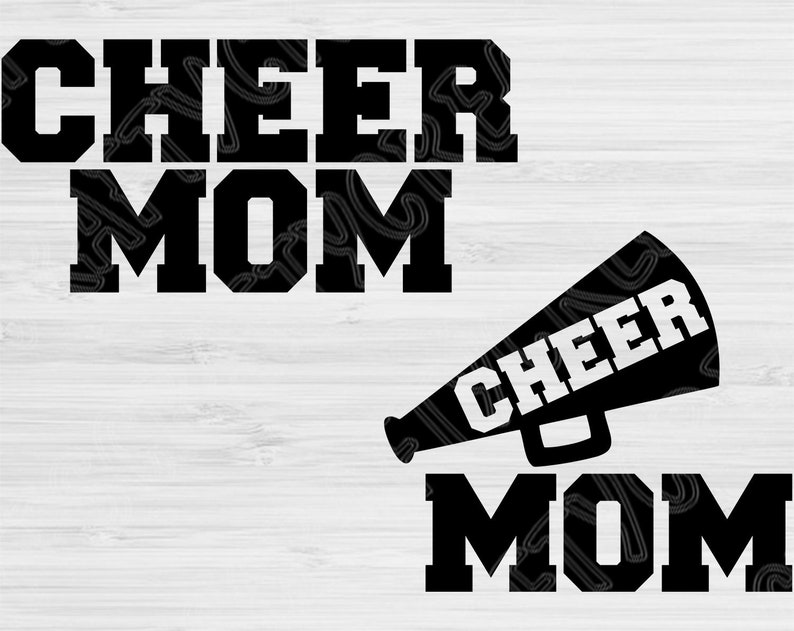 Cheer Mom Dxf Megaphone Cheer Mama Svg Files for Cricut Vector Art Svg Cheer Mom Silhouette Files svg dxf eps png Digital Cutingt Designs