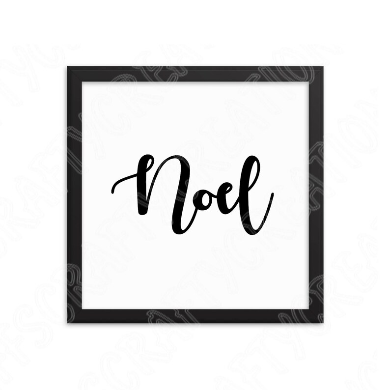 Noel Svg File Saying for Pillow or Bag Hand Lettered Christmas Svg Stencil for Vinyl Decal Winter Svg Cut Files for Cricut and Silhouette