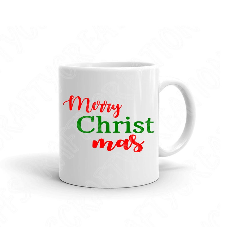 Merry Christmas Svg File Saying Winter Svg Cut Files for Cricut and Silhouette Hand Lettered Christmas Svg Stencil Merry Christ Mas.