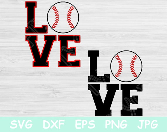 Love Baseball Svg Designs For Sister Or Mom Baseball Love Svg Etsy