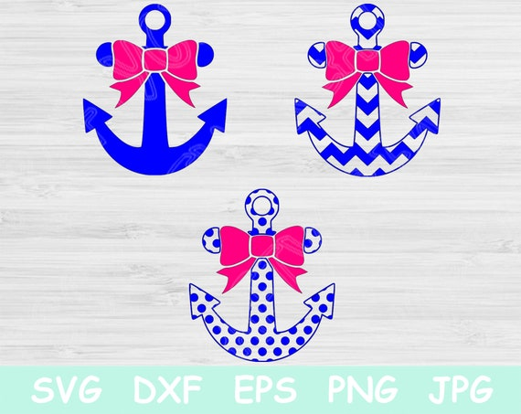 Anchor Svg Cut Files For Cricut And Silhouette Split Anchor Etsy