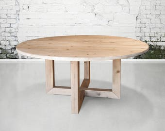 Wood Round Table.Round Dining Table Etsy