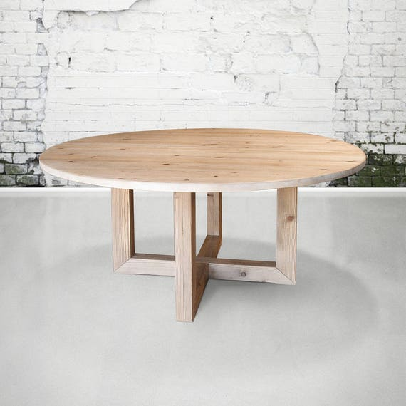 Table, Round Table, Dining Table, Reclaimed Wood, Kitchen Table, Handmade,  Rustic