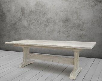 Dining Table, Table, Reclaimed Wood, Trestle Table, Wood Table, Handmade