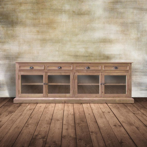Sideboard Console Cabinet Media Console Reclaimed Wood Tv Etsy
