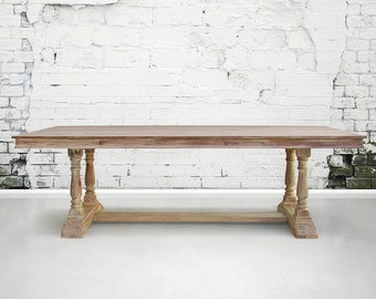 Table, Dining Table, Reclaimed Wood, Trestle Table, Kitchen Table, Handmade