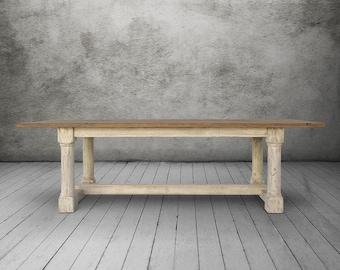 Table, Dining Table, Reclaimed Wood, Trestle Table, Handmade