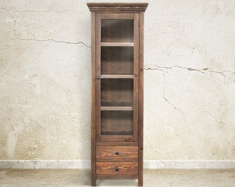 Bookcase, Display Cabinet, Book Shelves, Reclaimed Wood, Handmade, Rustic