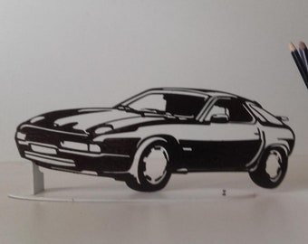 PLAQUE signs PORSCHE 928 in painted iron