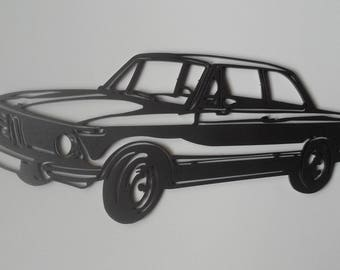 PLAQUE teaches BMW 2002 in painted iron
