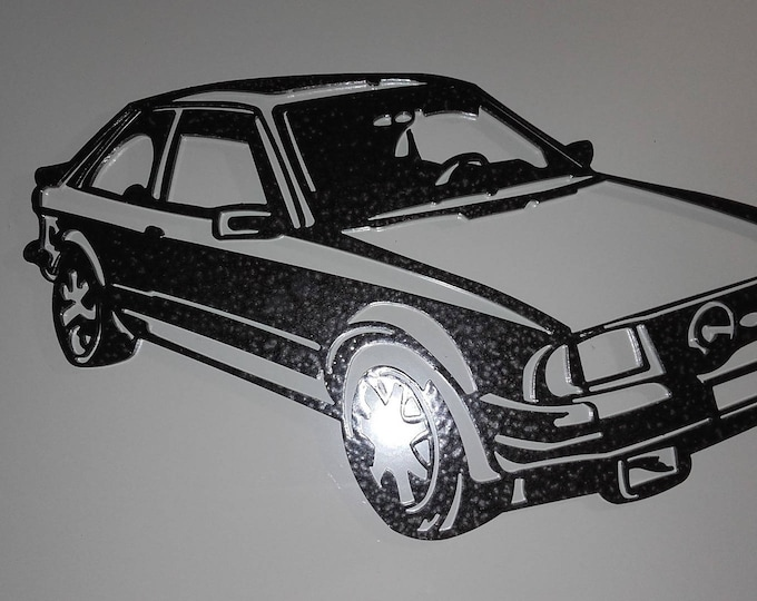 Plate teaches FORD XR3 steel hammered effect paint finish