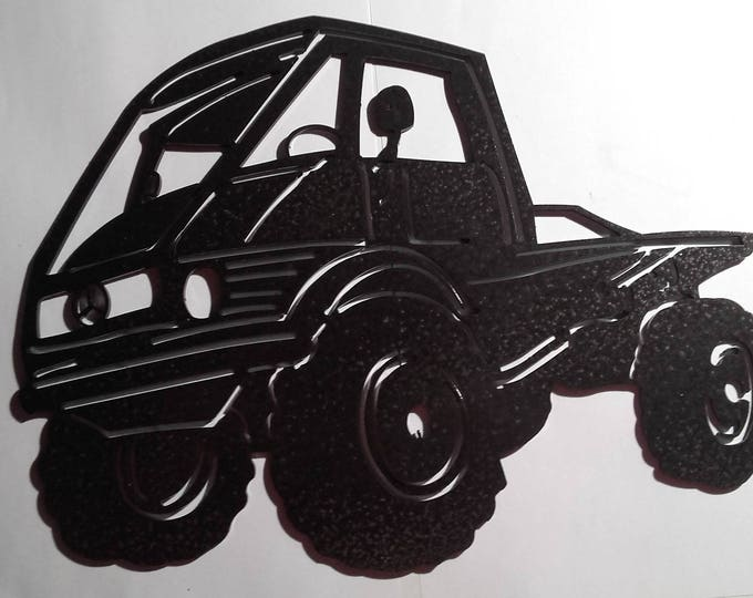 PLATE teaches steel MERCEDES UNIMOG paint finish hammered effect