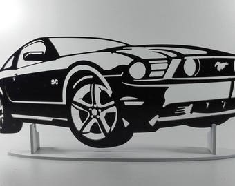 decoration plate teaches in metal MUSTANG