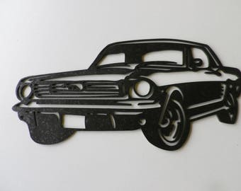 FORD MUSTANG sign plate in painted iron