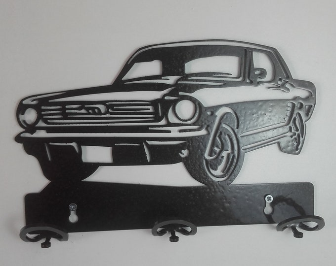 Ford mustang cut coat rack