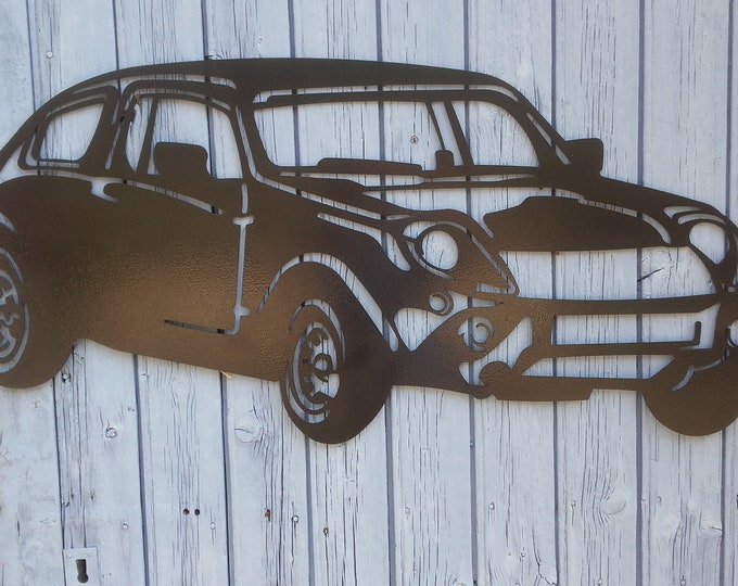 MINI MARCOS sign plate in painted iron