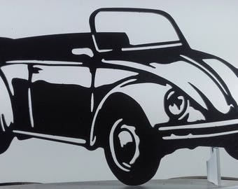 Plate teaches VW COX CAB steel finish paint hammered effect