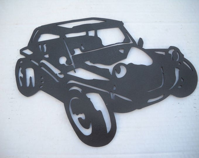 Painted iron shop sign BUGGY VW plate