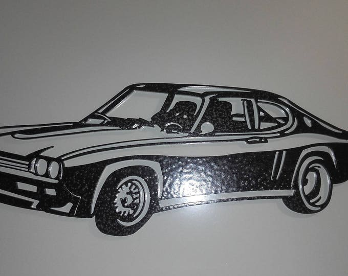 Plate teaches FORD CAPRI steel hammered effect paint finish