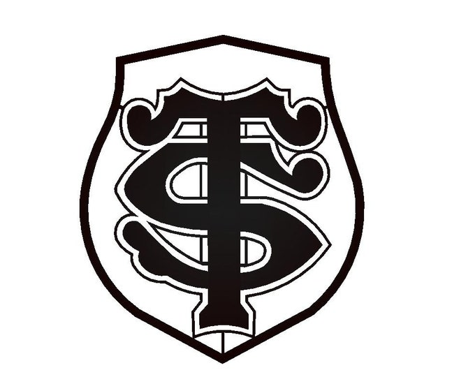 Plaque Metal decorative logo Toulouse stadium