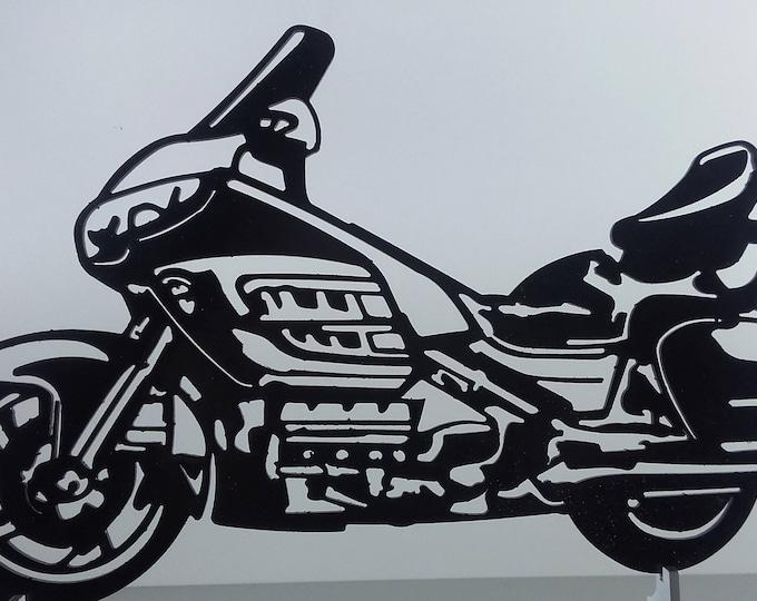 Plate teaches HONDA GOLDWING 1800 iron hammered effect paint finish