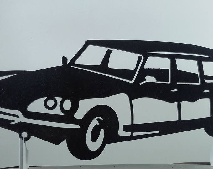 CITROEN DS BREAK sign iron plate painted hammered effect finish