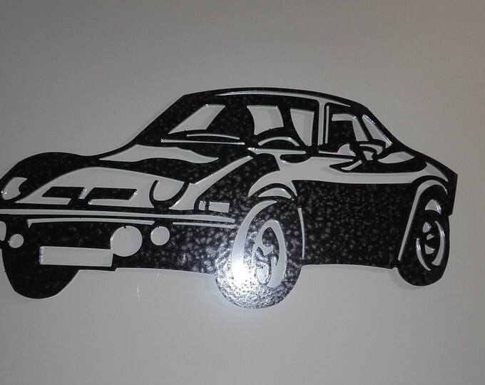 plate teaches OPEL GT steel hammered effect paint finish