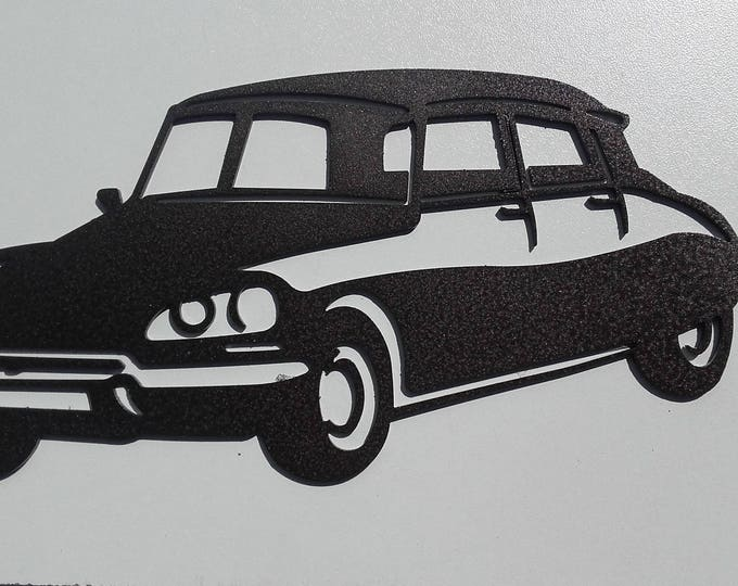 decoration plate teaches in metal CITROEN DS 21