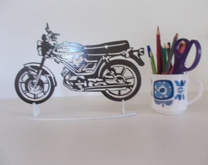 Plate teaches MOTOBECANE LT3 steel hammered effect paint finish