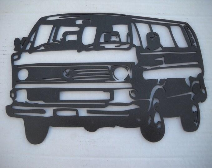 Plaque painted iron shop sign COMBI Volkswagen T3
